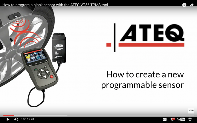 "ATEQ TPMS Tools releases video ""How to perform an OBDII relearn"
