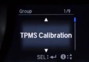 TPMS CALIBRATION-HONDA