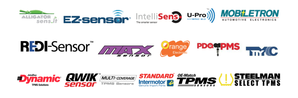 TPMS logos - sensor companies