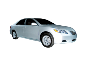 A brand new 2006 Toyota Camry Hybrid model. Isolated on a white background, clipping path is included. More car photos available in my gallery.