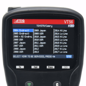 TPMS diagnostic information - Toyota Camry 2004-2019 - ATEQ-TPMS