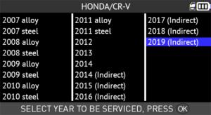 TPMS DIAGNOSTIC INFORMATION – Honda CR-V 2007-2019 - ATEQ-TPMS